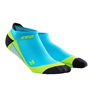 CEP Compression Dynamic+ No Show Socks (Hawaii Blue/Green) - BumsOnTheSaddle