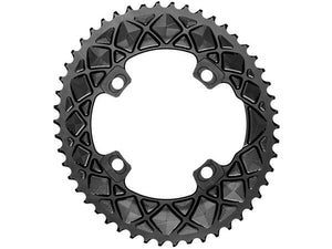 absoluteBLACK 2x 53T Road Oval Chainring (Black)