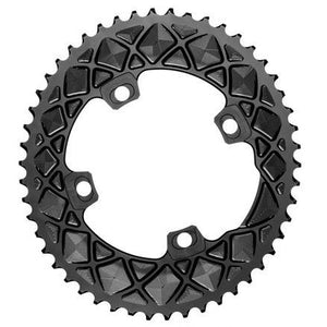 absoluteBLACK 2x 34T Road Oval Chainring (Black)