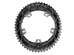 absoluteBLACK 2x 39T Road Oval Chainring (Black)