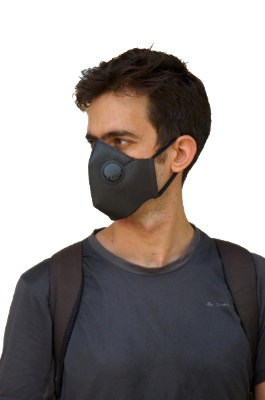 Aire Poly-Mask N95 Protective Face Mask (Black)