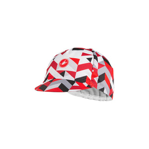 Castelli Prisma 2 Cap (White Red)