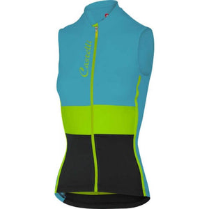 Castelli Protagonista Sleeveless Jersey (Carribean/Yellow Fluo/Black)