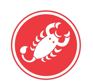 Castelli Scorpion Fan Sticker (Red)
