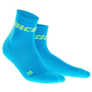 CEP Compression Dynamic+ Ultralight Short Socks (Electric Blue/Green)