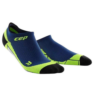 CEP Compression Dynamic+ No Show Socks (Deep Ocean/Green) - BumsOnTheSaddle