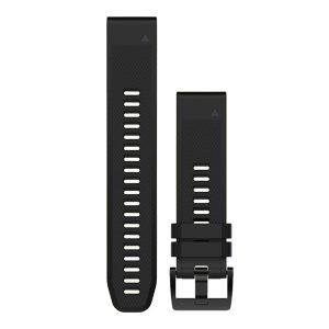 Garmin QuickFit™ 22 Watch Band (Black/Black Silicone)