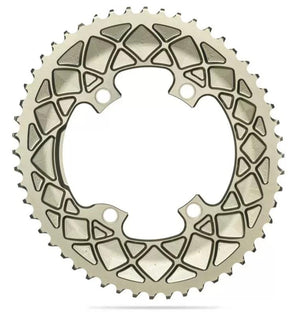 absoluteBLACK 2x 110/4 BCD Road Oval Chainring (Champagne)