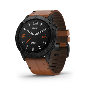 Garmin Fenix 6X Smart Watch (Saphire Black)
