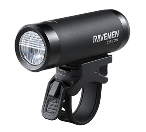Ravemen CR500 Rechargeable Front Light (Black) - BumsOnTheSaddle