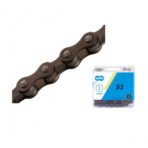 KMC S1 Single Speed Chain (Brown/Brown)