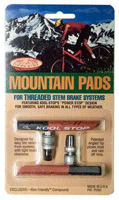 Kool Stop Threaded Mountain Pad - Dual Compound