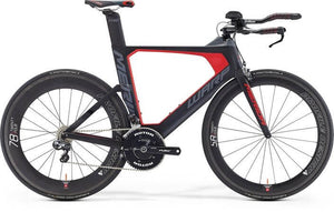 Merida Warp Tri 7000-E Frame Kit (Silk Black/Grey/Red)