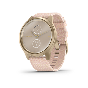 Garmin Vivomove Style Smart Watch (Light Gold/Blush Pink)