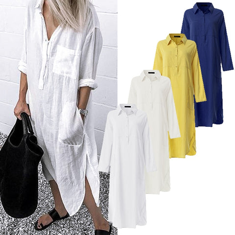 Midi Shirt Dress Summer Vintage