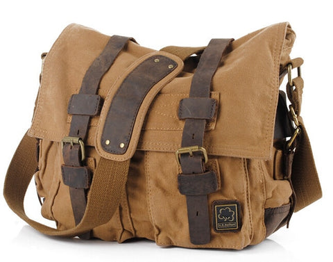 Military Army Vintage Crossbody Bag, Men's Messenger Shoulder Bag, large Bags Casual Teenagers High Quality shoulder bag