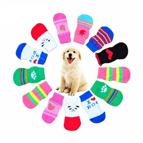 Paw Protection, Cute Knits Socks for Dogs