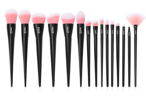 Makeup Brush Set, Professional Foundation, Powder, Eyeshadow, Lip. Brow,  Make Up Brush Kit, Plastic Handle, Stable Synthetic Fibers
