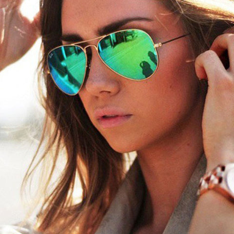 Aviator Sunglasses . Smaller Frame Designed to Fit a Women's Face. Cool Style & Fit.