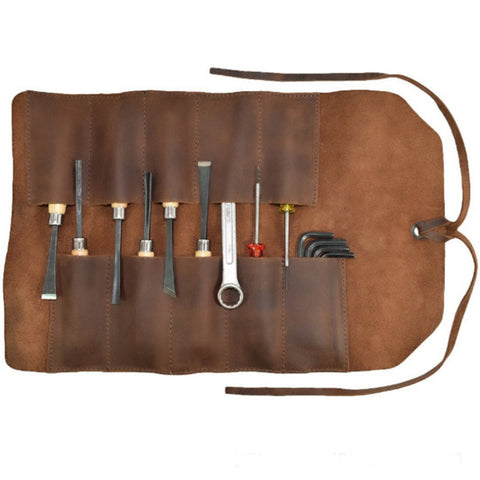 Leather Craft Tool Kit Pouch, Hand Bag Leather, Multifunction Tool Storage Bag