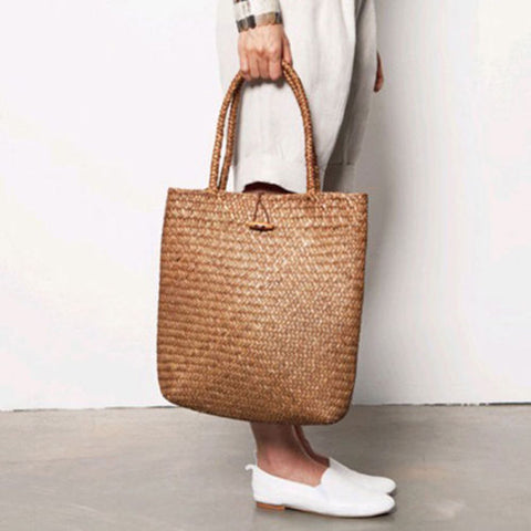 Summer Straw Beach Tote