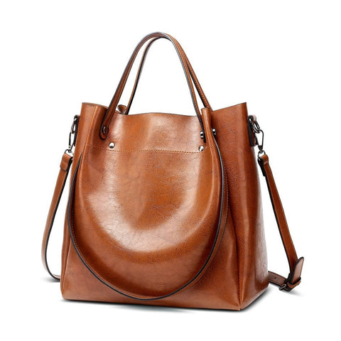Fab Leather Tote, Shoulder Bag, Bucket Handbag, Messenger Bag Soft Crossbody Bags
