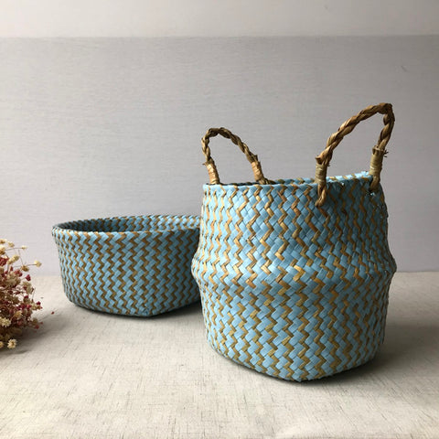 Natural Seagrass Basket. Beautifully Woven Accent