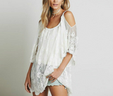 OMG Crazy Beautiful Beach Cover Up in White