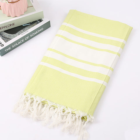 Turkish Bath Towels Cotton Fabric Tassel Big Beach Towel