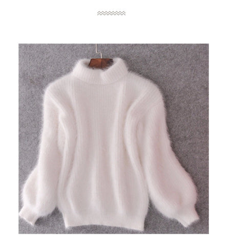 Mohair Turtleneck Sweater, Pullover