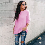 Feminine Candy Color Pullover Sweaters, Multiple Options