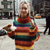 Rainbow Turtleneck Sweater