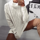 Lovely & Comfy Turtleneck Pullover Sweater With Pockets.