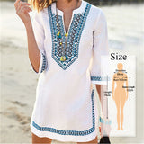 Vintage Embroidered Tunic Cover up