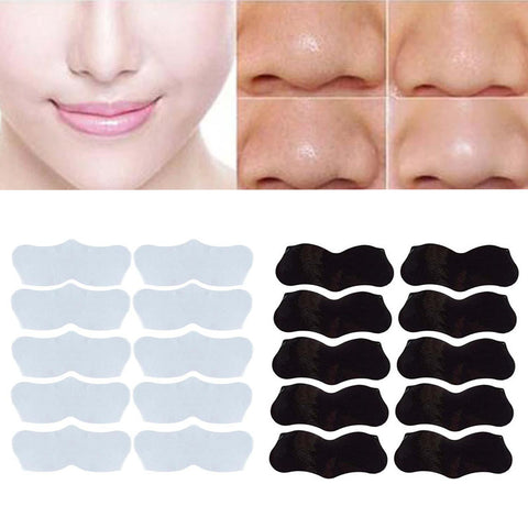 10pcs Face Skin Care Nose Stickers, Remove Blackhead Acne,