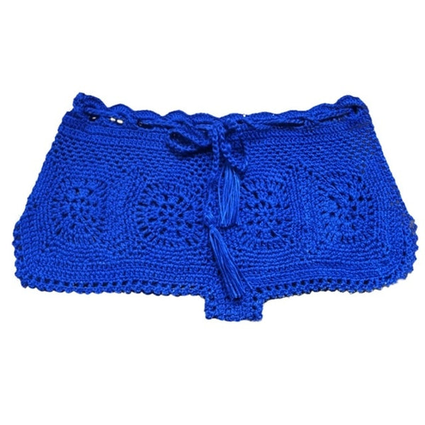 Handmade Crochet Bikini Bottom Swim Shorts & Cover Up