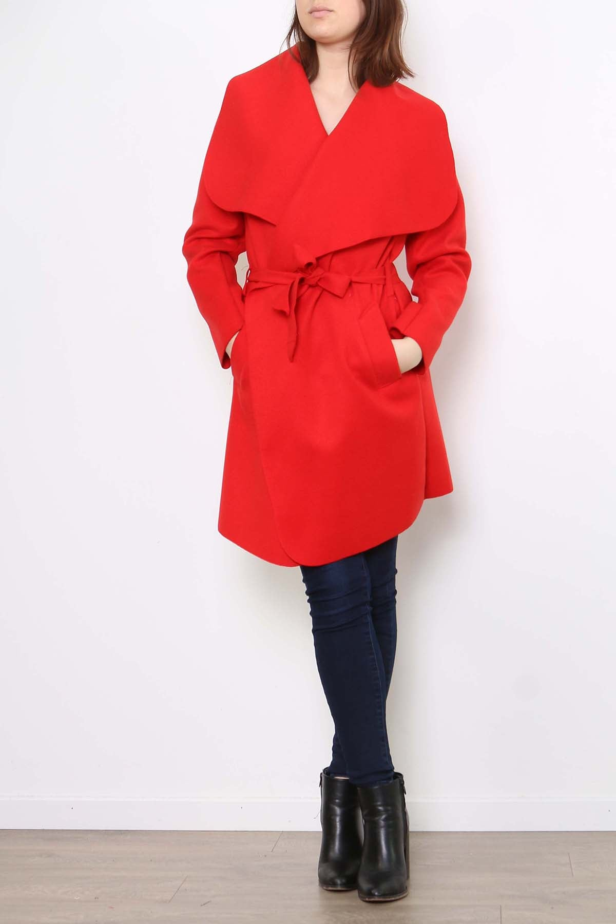 ELLA Shawl Collar Belted Coat - 9 colors available