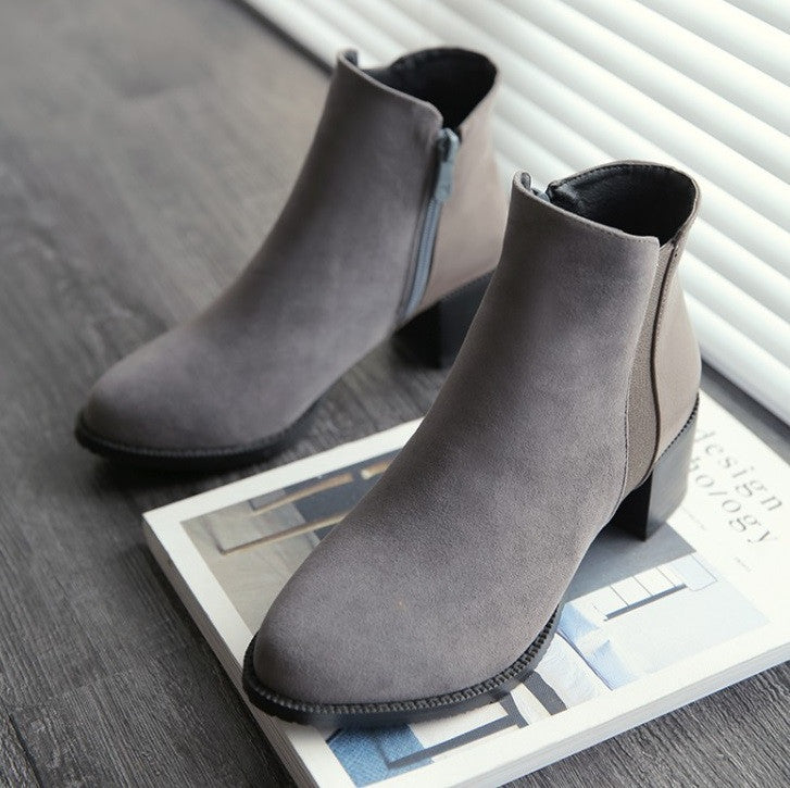 ANYA Suede Ankle Boots