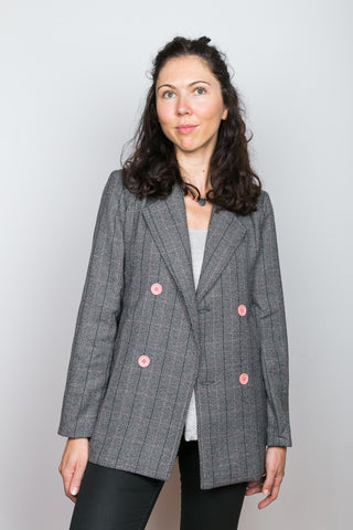 MARISA Glen Plaid Double-Breasted Jacket