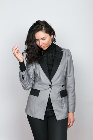 KAREN Color-block Blazer