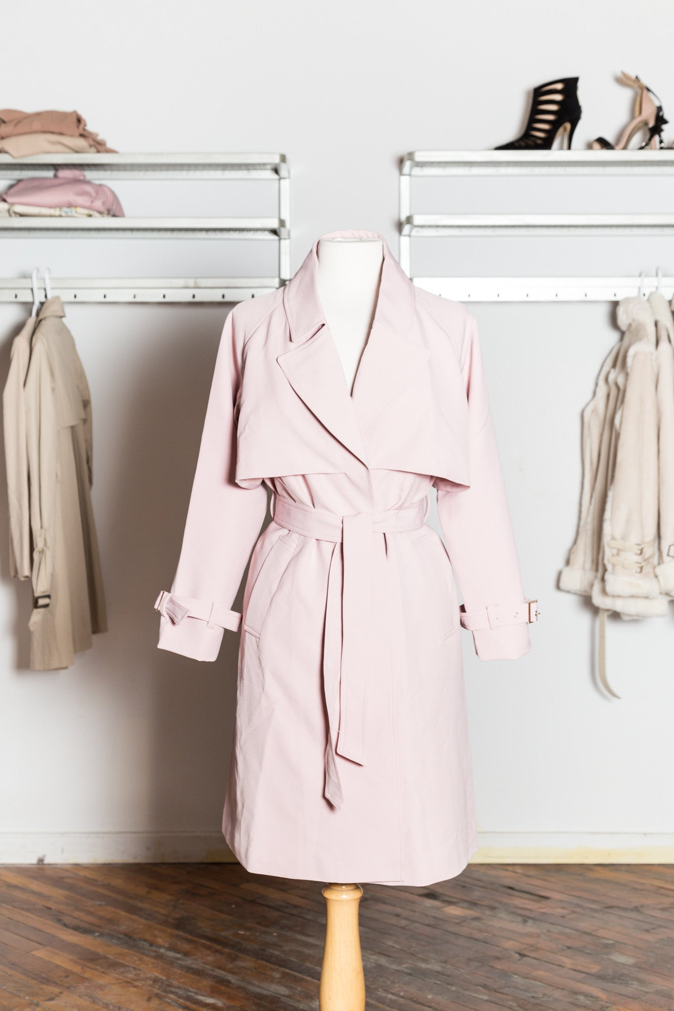 MELISSA Pink Trench Coat