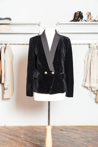 BLAIR Black Velvet Blazer