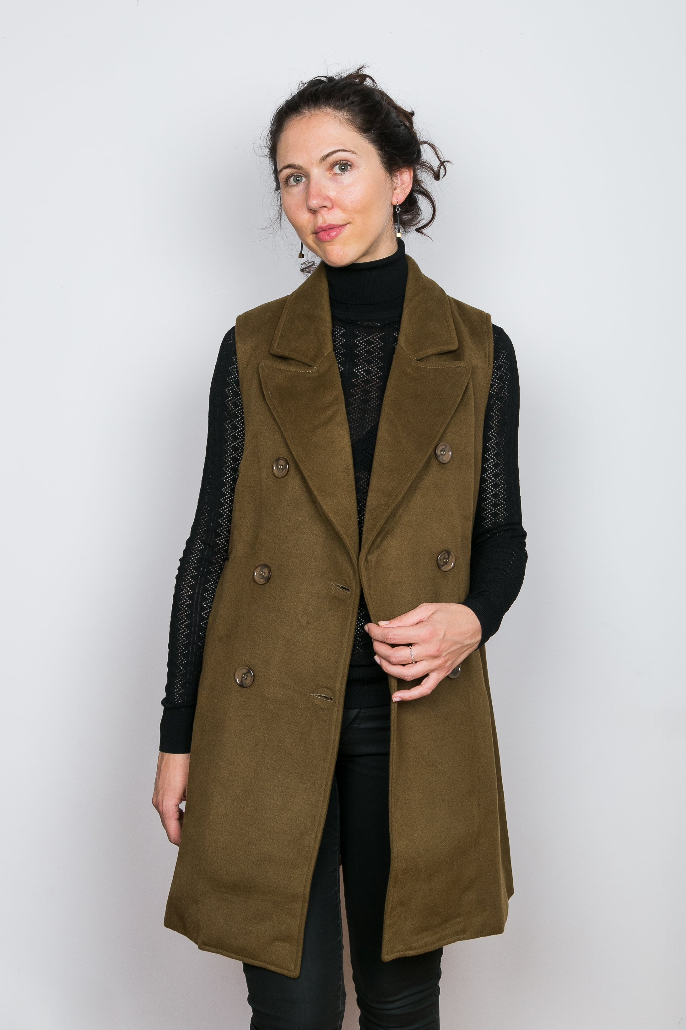 YUNA Wool Blend Sleeveless Jacket