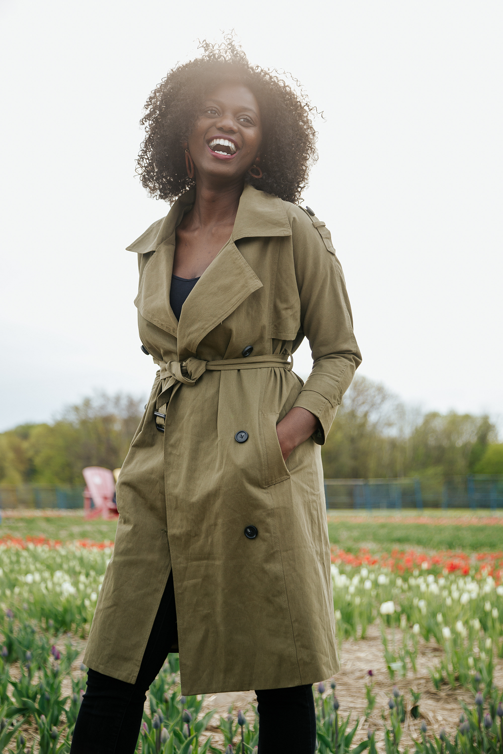 MAY Khaki Trench Coat