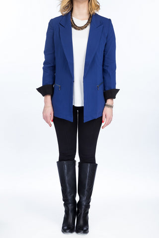 NELLY Turn Up Cuff Blazer - Mademoiselle Veste - 1
