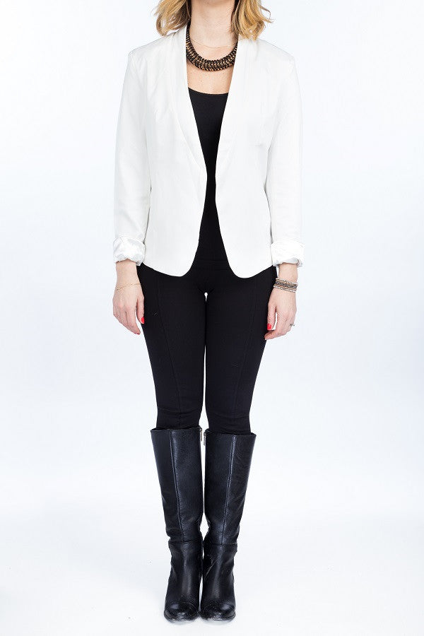 PALOMA Collarless Blazer - 3 colors available - Mademoiselle Veste - 1