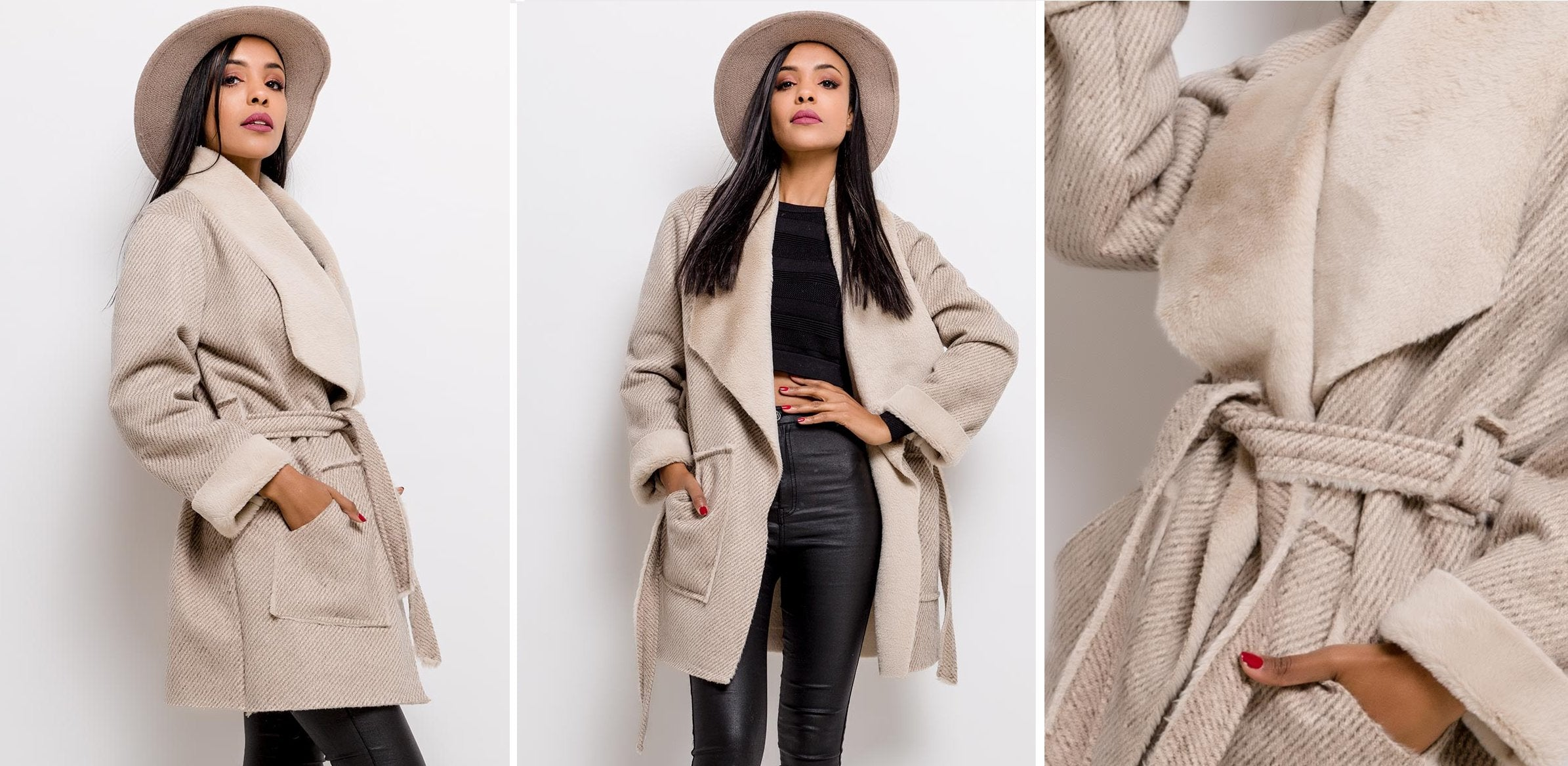 NAOMI DRAPED TRENCH COAT
