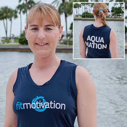 Fitmotivation shirt - Ladie's Navy