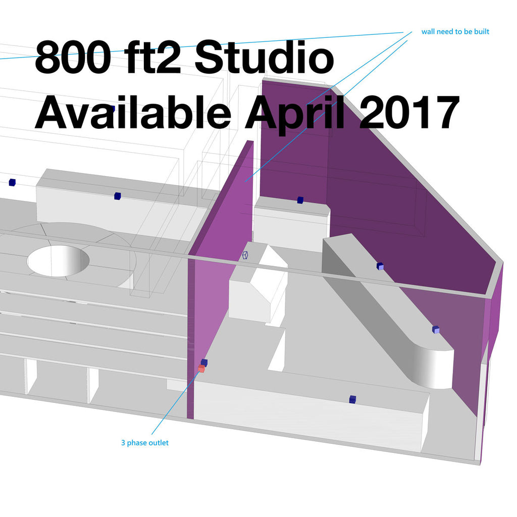 Rent a 800ft2 studio at MakerBay