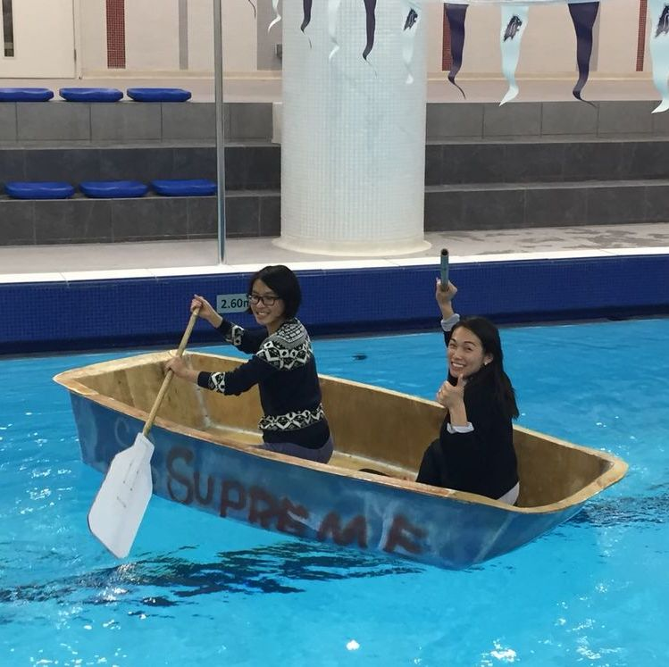 Building boats with Stamford American International School